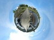 Подвесной мост через реку Туру